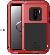 Metalen hoes voor Samsung Galaxy S9 Plus (S9+), Love Mei, metalen extreme protection case, zwart-rood