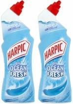Harpic Toiletreiniger Gel Ocean Fresh 2 x 750 ml