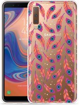 Galaxy A7 2018 Hoesje Feather Art