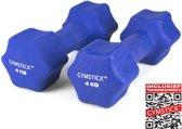 Gymstick Dumbells - Met DVD - 2 x 4 kg - Neopreen