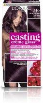 L'Oréal Paris Casting Crème Gloss Haarverf - 316 Violet Bruin