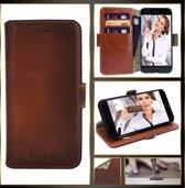Bouletta Lederen iPhone 7/8 Plus Hoesje - BookCase New Edition - Burned Cognac