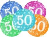 Mega ballon 50 jaar - Geel - 50 jaar versiering