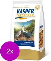 Kasper Faunafood Goldline Strooivoer met Fruit - Voor buitenvogels - 2 x 1 kg