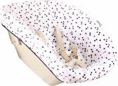 UKJE.NL Geplastificeerde hoes voor newborn set Stokke TrippTrapp - Wit met zwarte driehoekjes ♥