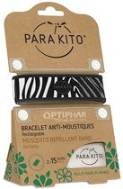 Parakito Anti-Muggen Armband Zebra + 2 navullingen