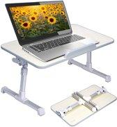 Bedtafel – bedtafeltje - verstelbaar-  laptop - voor op bed – voor laptop – voor ontbijt op bed -  Bedtafeltje inklapbaar - zonder wielen - laptoptafeltje - laptoptafel – laptop tafel  bed