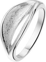 The Jewelry Collection Ring Gescratcht - Zilver Gerhodineerd