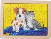 Goki Houten Legpuzzel Hond 19 X 14,5 Cm 24 Stukjes