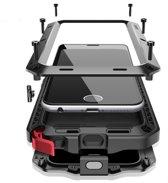 Apple iPhone 6 / 6s Metalen Hoesje - Zwart - Fullbody Hoes