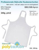 Homéé - Keukenschorten BBQ Apron wit 240g. p/m2 | Set van 2 stuks | 70x100cm