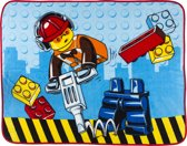 Lego City Construction - Panel Coral Fleece 120 x 150 cm - Multi