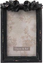 Clayre & Eef Fotolijst zwart 13x3x19 cm / 10x15 cm