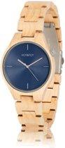 HOT&TOT Faun - Houten horloge - Blauw - Beige - Esdoorn - ø 40 mm