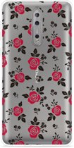 Nokia 8 Hoesje Roses