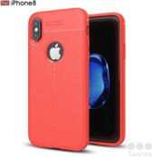 Twondo pvc back cover voor Apple iPhone 7/8 plus - Rood - Back Cover