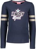 B-Nosy Meisjes t-shirts & polos B-Nosy Girls shirt with sequinces on sleeve blauw 146/152