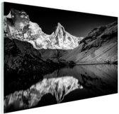 Kedartal  zwart-wit Glas 120x80 cm - Foto print op Glas (Plexiglas wanddecoratie)