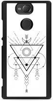 Xperia XA2 Hardcase Hoesje Abstract Moon Black
