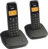AEG Voxtel D100  - Duo DECT telefoon - Zwart