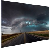 Tornado wolk over Texas Aluminium 90x60 cm - Foto print op Aluminium (metaal wanddecoratie)