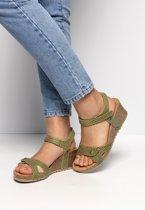 Panama Jack Dames Sandalen - Groen - Maat 36