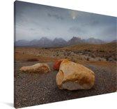 Uitzicht op het mistige berglandschap van het Nationaal park Sierra Nevada in Noord Amerika Canvas 30x20 cm - klein - Foto print op Canvas schilderij (Wanddecoratie woonkamer / slaapkamer)