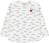 Tumble 'N Dry Meisjes T-shirt Jordette - White Offwhite - Maat 68