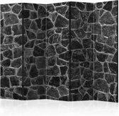 Vouwscherm - Zwarte stenen 225x172cm