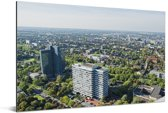 Luchtfoto van Dortmund in Duitsland Aluminium 30x20 cm - klein - Foto print op Aluminium (metaal wanddecoratie)