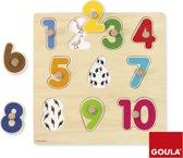 Goula Houten Puzzel - Cijfers - 10 Stukjes