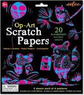 Eeboo Scratch Paper: Op-art Fluo