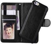 iPhone 6/6s Wallet Case Deluxe met uitneembare softcase, business hoesje in luxe uitvoering, zwart , merk i12Cover
