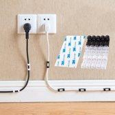 Kabelclip voor kabelmanagement | Wit