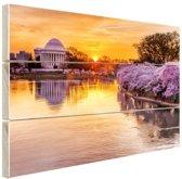 FotoCadeau.nl - Jefferson Memorial Washington DC Hout 120x80 cm - Foto print op Hout (Wanddecoratie)