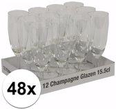 Champagne glazen 48 stuks