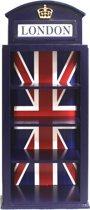Vitrinekast wandvitrine Engelse Londen telefooncel 70 cm hoog