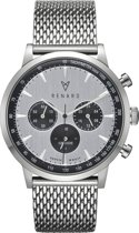 Renard Grande Chrono RC402SS13MSS - Horloge - RVS - Zilverkleurig - 40mm