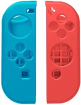 Nintendo Switch Siliconen Game hoesje - rood / blauw