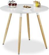 relaxdays - eettafel rond - eetkamertafel - eetkamer tafel Scandinavisch design wit