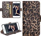 Bouletta Lederen Apple iPhone 7/8 Hoesje - BookCase New Edition - Leopard