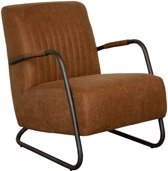 Industriële fauteuil Lunar | stof Missouri cognac 03 | 78 cm breed
