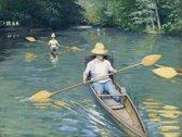 Gustave Caillebotte : Skiffs (1877) Canvas Print