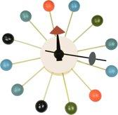 Design wandklok Ball Klok veelkleurig