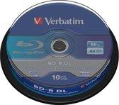 Bluray Verbatim 50GB 10pcs Spindel 6x White Blue