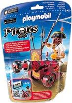 Playmobil Zeerover met rood kanon - 6163