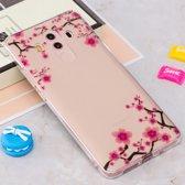 Let op type!! Voor Huawei Mate 10 Pro IMD Plum Blossom patroon duidelijk TPU beschermende terug softcase