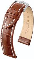 Hirsch Modena Horlogebandje L 20mm Goudbruin