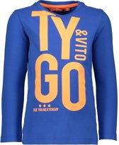 TYGO & vito Jongens T-shirt - fel blauw - Maat 122/128