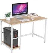 Computer tafel - Hoek Bureau - Idustrieel - Vintage - Hout - Metaal